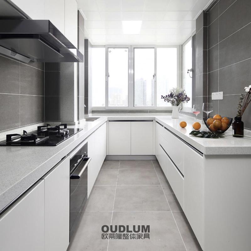 CG12012 整体厨房模压门橱柜 肤感 欧蒂隆.OUDLUM 全屋定制
