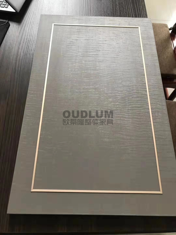 AS205 回形金属饰边条平板柜门.全屋家具定制