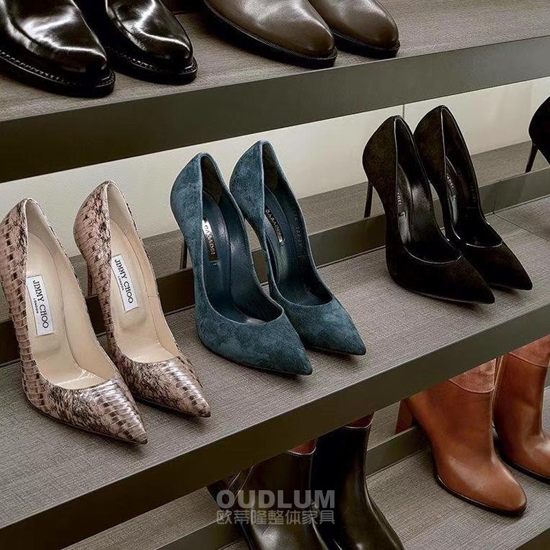 现代轻奢鞋架金属前中档柜内平层斜层板1084 1081