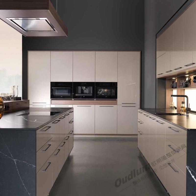 CG501 整体厨房橱柜 欧蒂隆.OUDLUM 全屋定制 木饰面柜体&PETG柜门