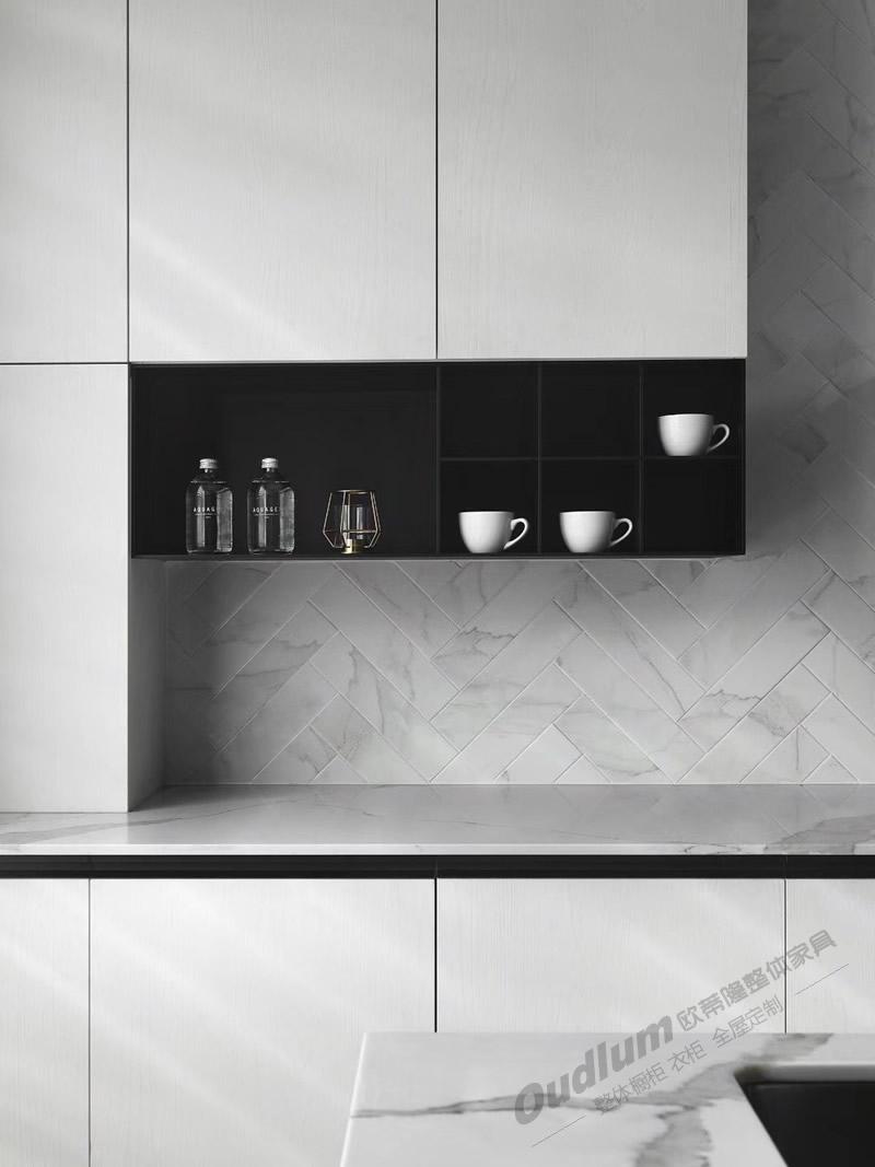 CG119整体厨房橱柜(超哑 肤感 双饰面) 欧蒂隆.OUDLUM 全屋定制