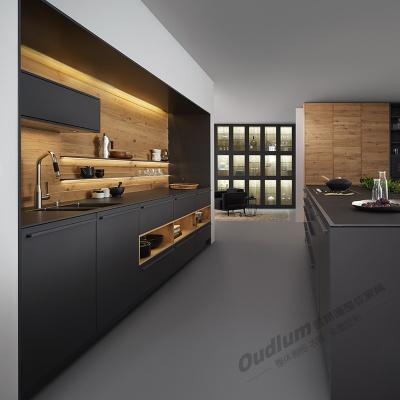 CG111整体厨房橱柜 纯色超哑+木饰面 欧蒂隆.OUDLUM 全屋定制