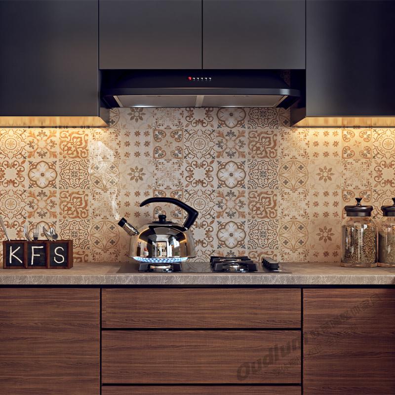 CG117整体厨房橱柜 纯色超哑+木饰面  欧蒂隆.OUDLUM 全屋定制