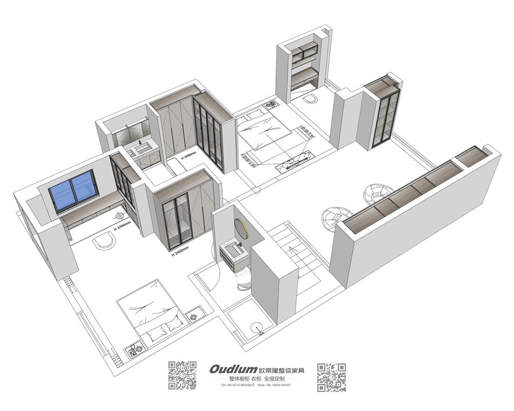 常州市溧阳区 Ms.张  别墅现代轻奢全屋家具柜定制 初步设计方案