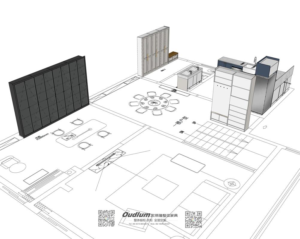 常州市溧阳区 Ms.车 别墅意式轻奢全屋家具柜定制 初步设计方案