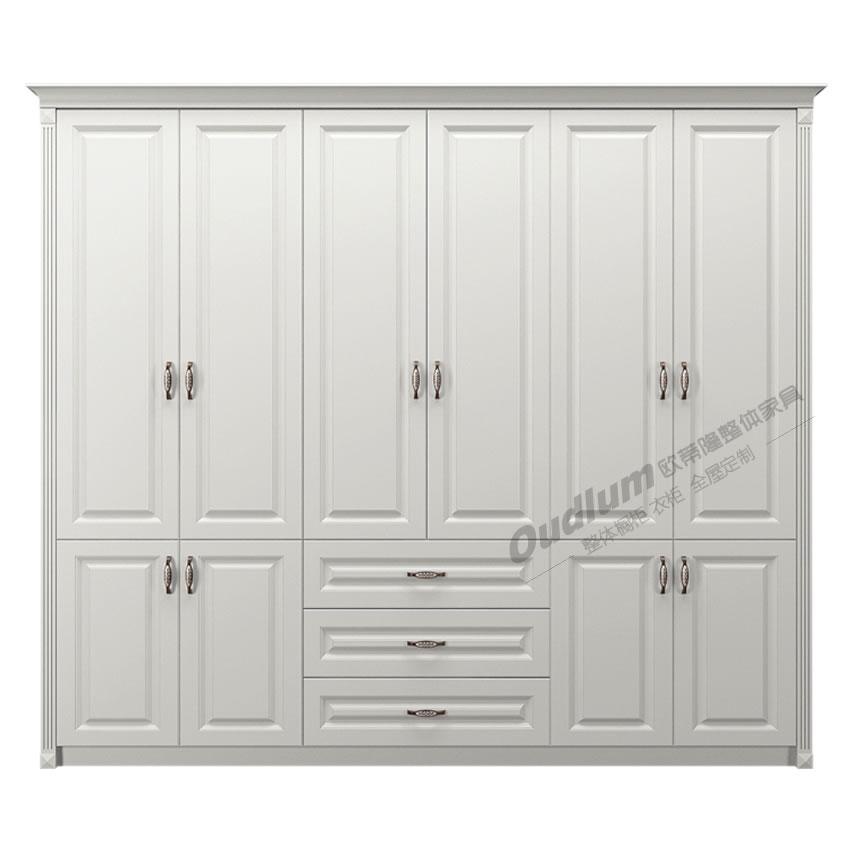 常州市全屋定制整体衣柜卧室组合柜平开门欧式大衣柜G01 欧蒂隆.OUDLUM
