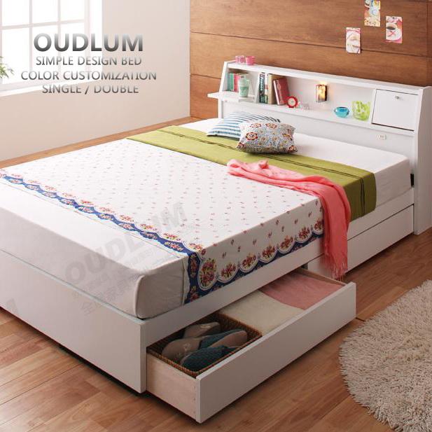 日式家具板式床榻榻米储物床1.8米抽屉床1.5米双人床R11066