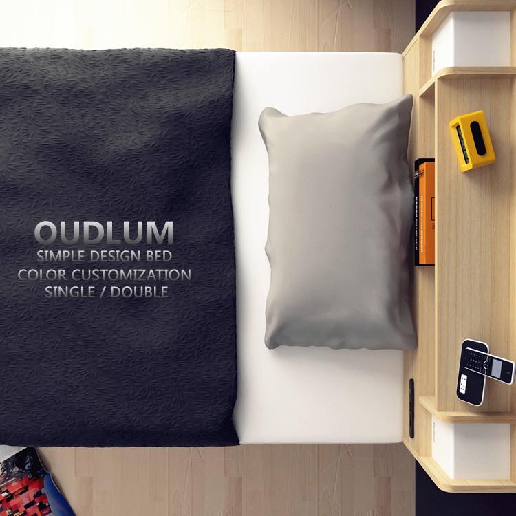 床 现代简约多功能高箱储物抽屉床日式单人双人收纳板式床可定制