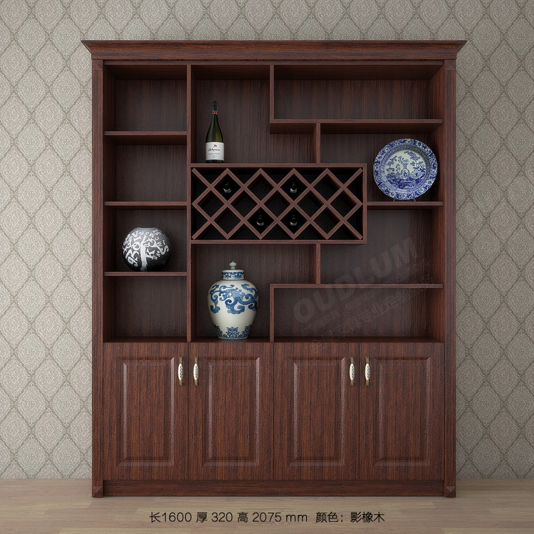 欧式酒柜白色客厅玄关隔断装饰柜定制餐厅家用多功能红酒柜餐边柜