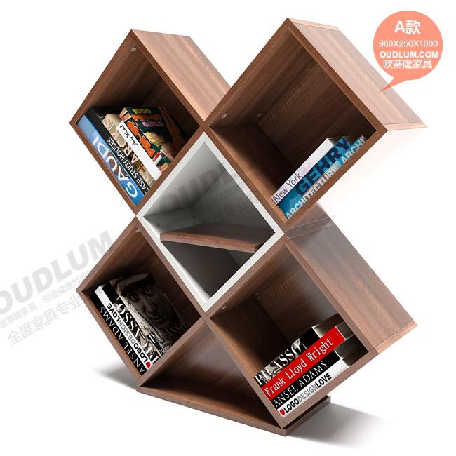 创意书柜书架多功能自由组合简约现代格子柜装饰柜时尚个性SG08