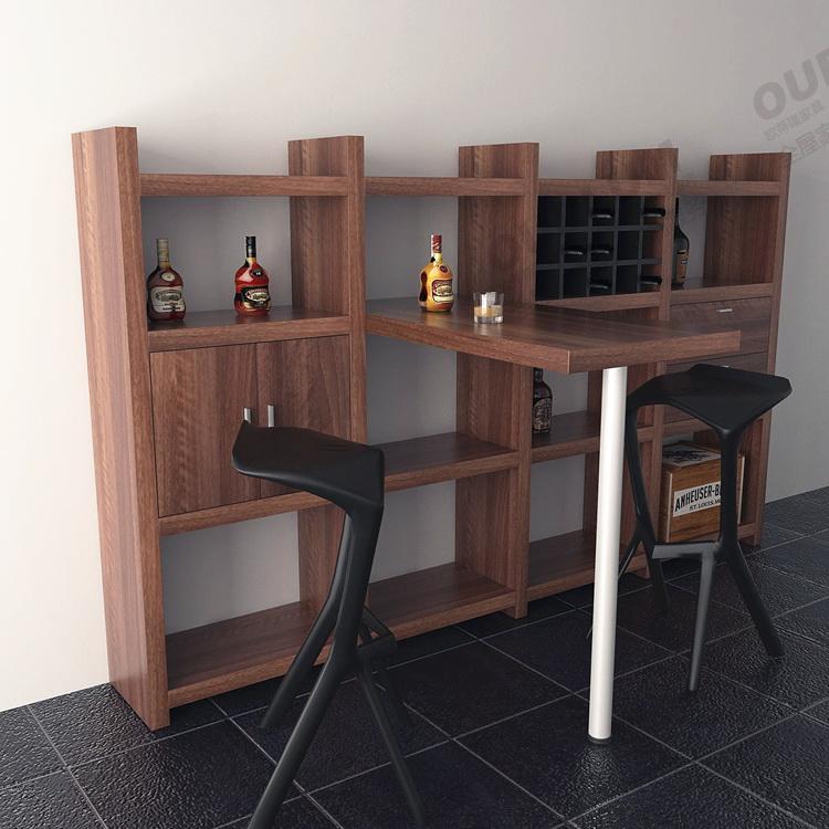 欧蒂隆家用酒柜吧台餐桌一体组合简约现代多功能隔断柜间厅柜JG07