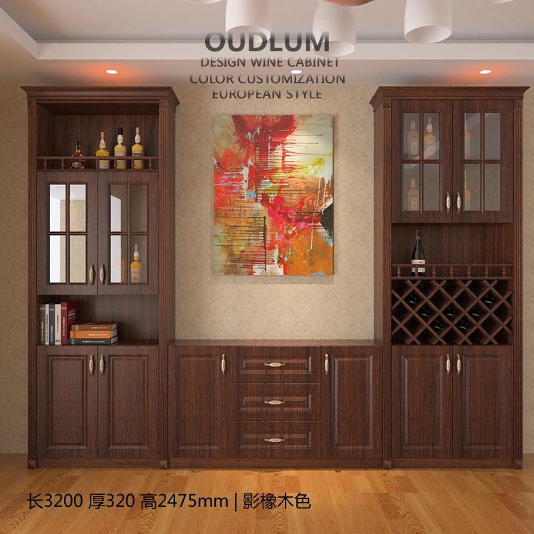 欧式酒柜白色客厅奢华展示柜储物柜定制餐厅家用多功能酒柜餐边柜