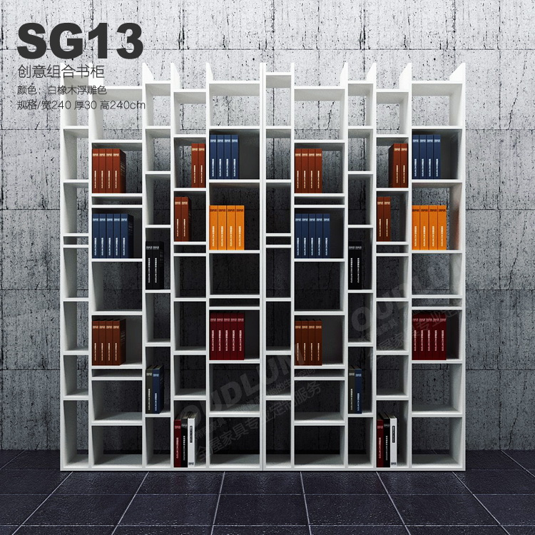 欧蒂隆北欧现代隔断柜装饰柜餐客厅家具定制创意书架书柜SG13