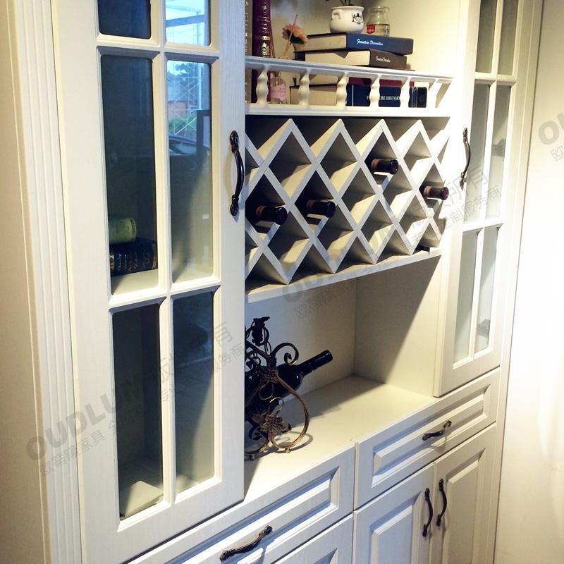 欧蒂隆 欧式酒柜客厅定制餐边柜现代简约玄关装饰柜餐厅酒柜JG6