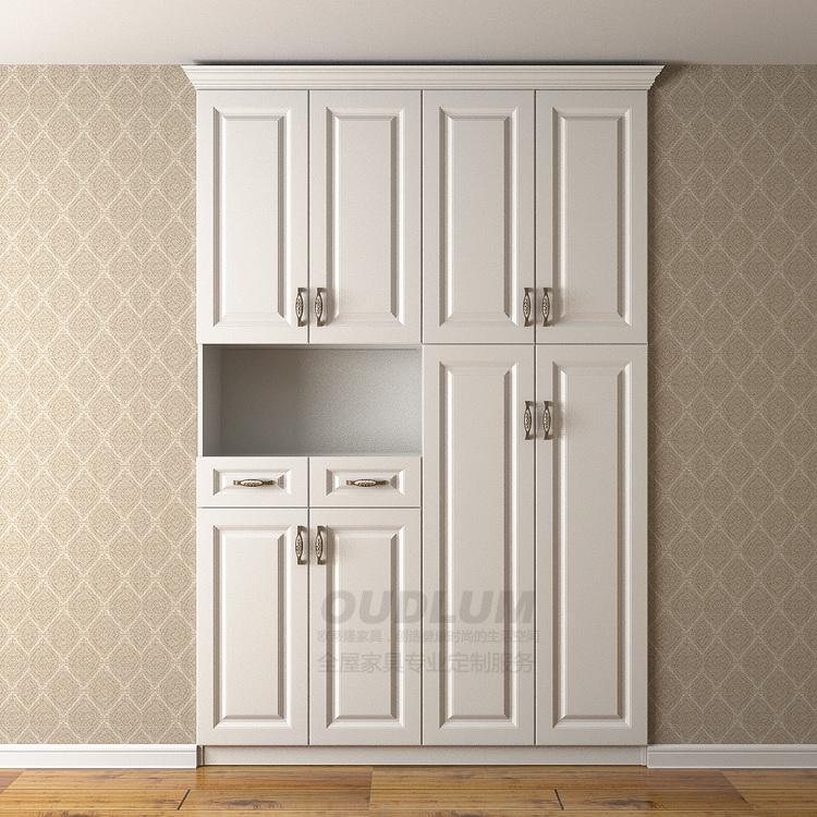 简约现代鞋柜门厅柜储物柜定制多功能对开门欧式玄关柜子包邮XG02