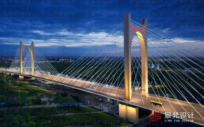 如意大桥夜景设计效果