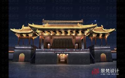 庙会古建筑亮化设计