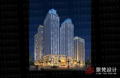 商场群里夜景照明设计效果
