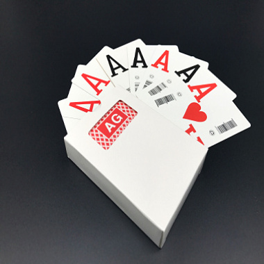 AG品牌條碼撲克牌A-H八款条码扑克定制印刷