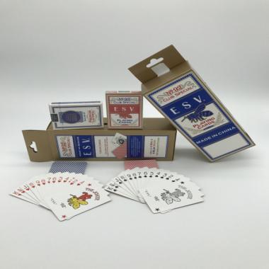 本厂ESV扑克牌设计新颖加工精细广州扑克牌厂家生产