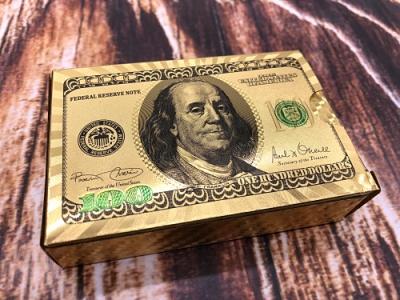 高品质金箔扑克牌,磨砂金箔扑克