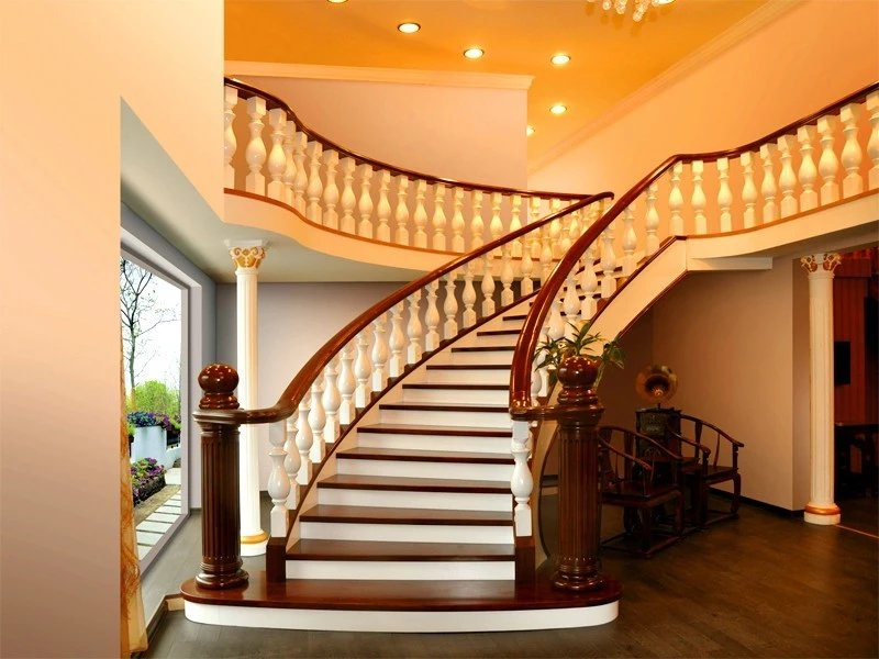 金源轻奢实木楼梯