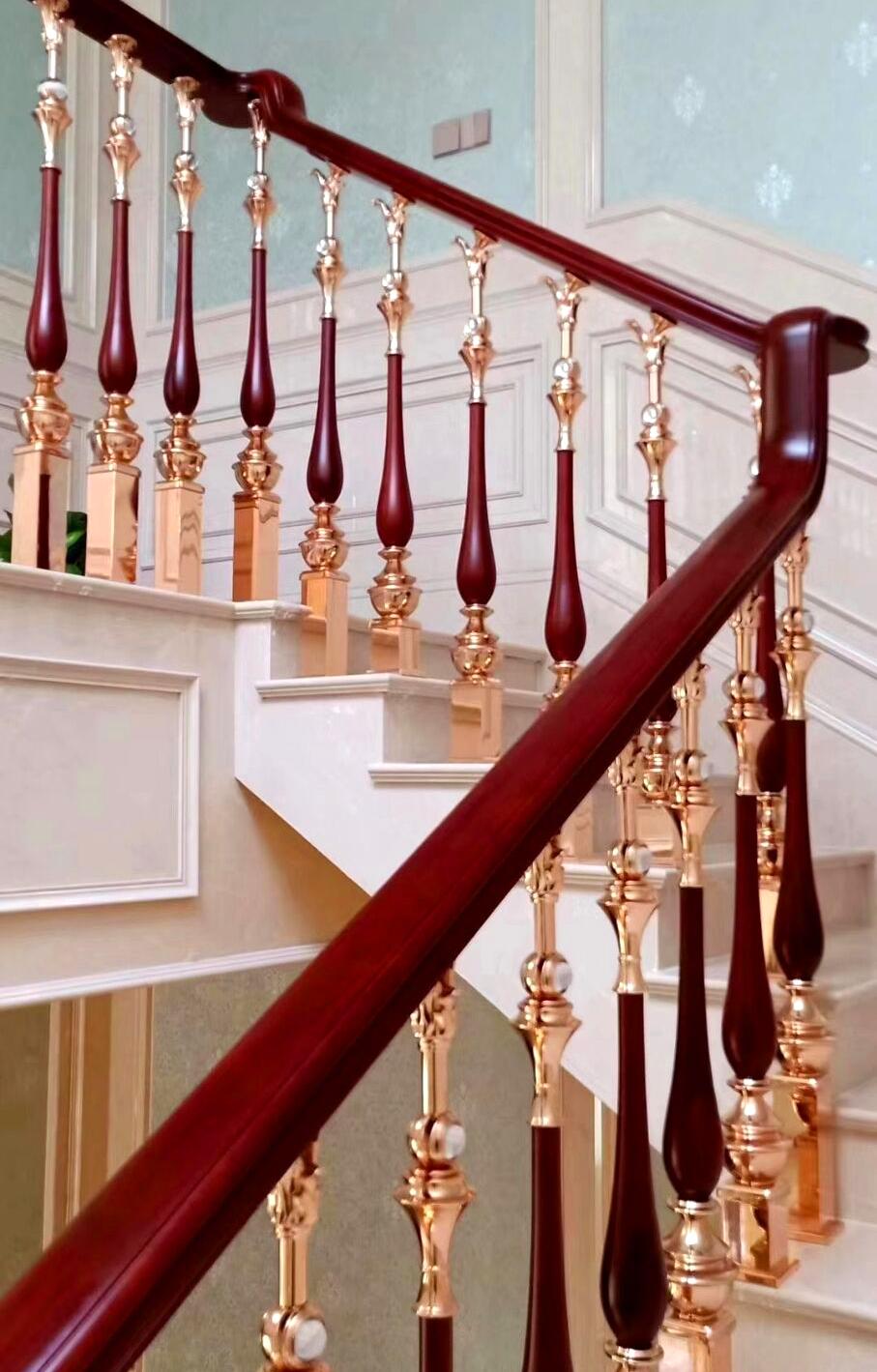深圳楼梯,深圳金源楼梯,深圳扶梯,铜艺扶栏样式二