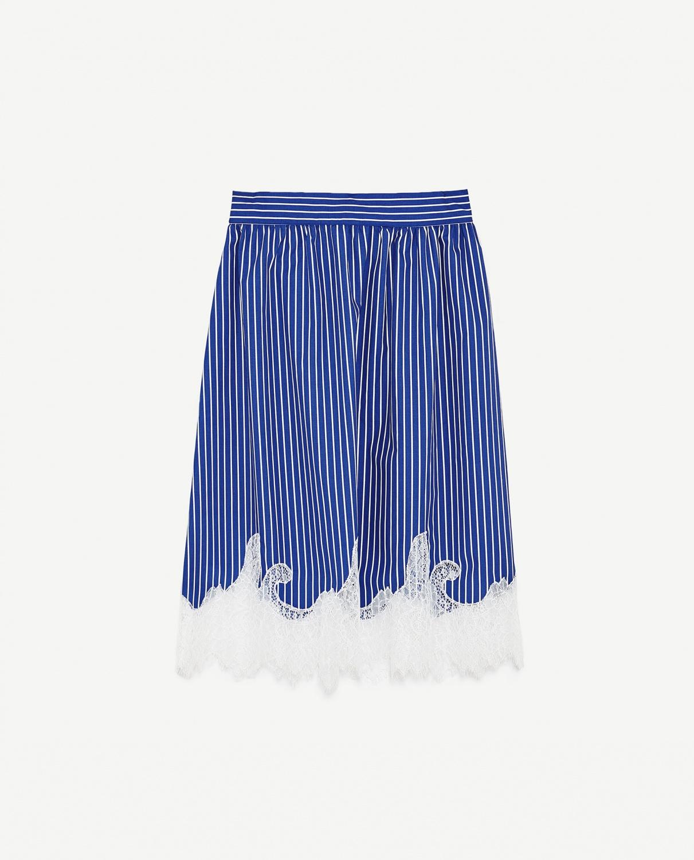 Stripe lace skirt