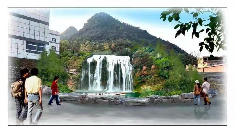 校内黄果树瀑布