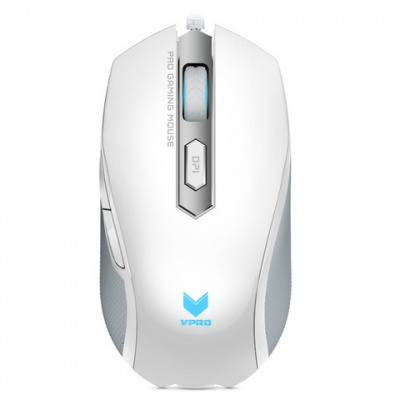 雷柏V210 有线游戏鼠标 白色
