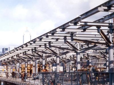 中環MTR501地盆機鐵上蓋之鋼鐵結構架 Structure Steel for MTR Site 501 at Central