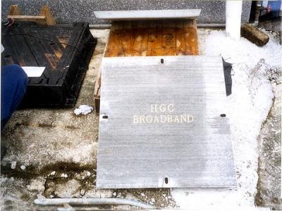 和記環球電訊公司之水泥沙井蓋 Concrete Cover for HGC