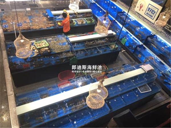 长沙定做超市海鲜鱼池厂家