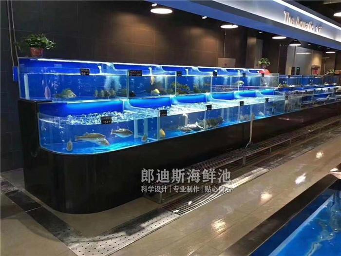 长沙定做移动式超市海鲜鱼池虾缸 专业厂家定制