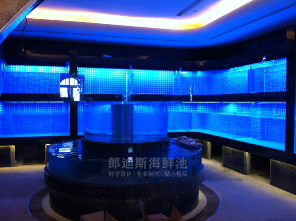 郴州定做可移动海鲜鱼池虾缸贝类池 一手厂家定制