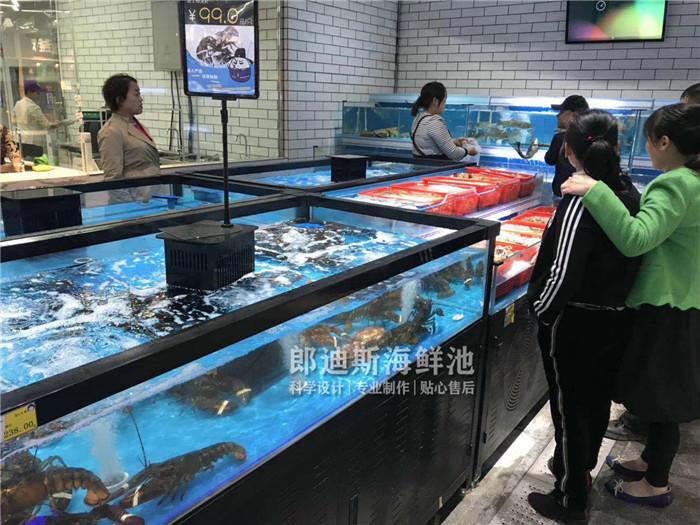 邵阳定做大型连锁超市海鲜鱼池虾缸 专业厂家定制