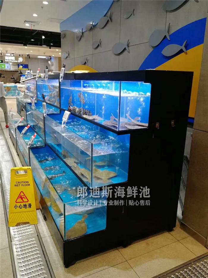 常德定做超市海鲜鱼池虾缸 专业厂家定制