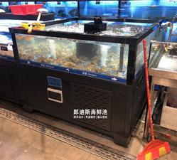 株洲连锁超市海鲜鱼池 专业海鲜池厂家定做
