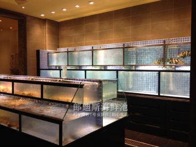 长沙酒店饭店定做可移动海鲜鱼池鱼缸,厂家定制