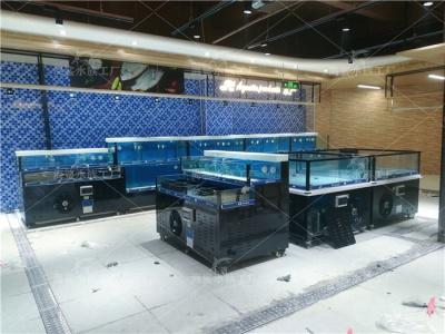 超市海鲜池定做,长沙海鲜鱼缸设备