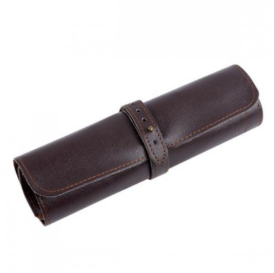 Vintage PU Leather Pen Pencil Roll Case-AZPC7005