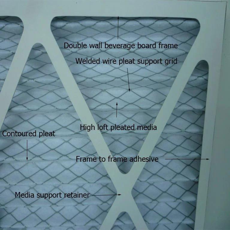 Cardboard Pleated Pre Filter