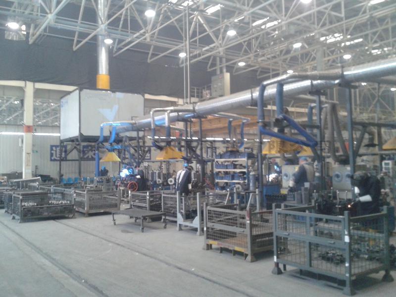 山西汽车制造企业部件焊接区烟尘高排项目