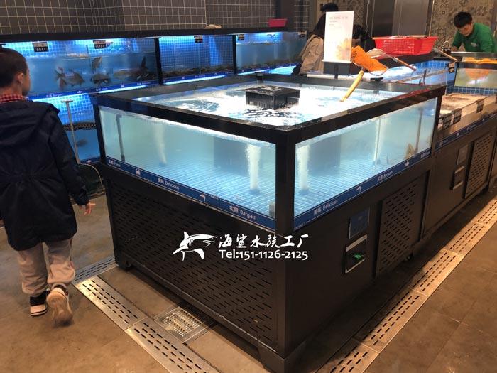九江连锁超市海鲜池定做