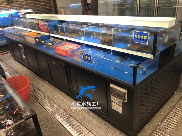 吉安饭店餐厅海鲜鱼缸定制厂家