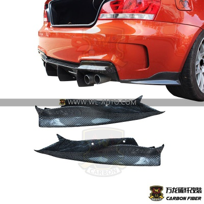 BMW 1M E82 RZ  REAR SIDE SPLITTER