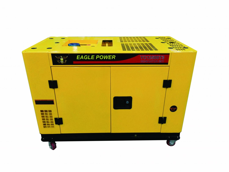 YC12500T3-10KW-380V-柴油發電機組