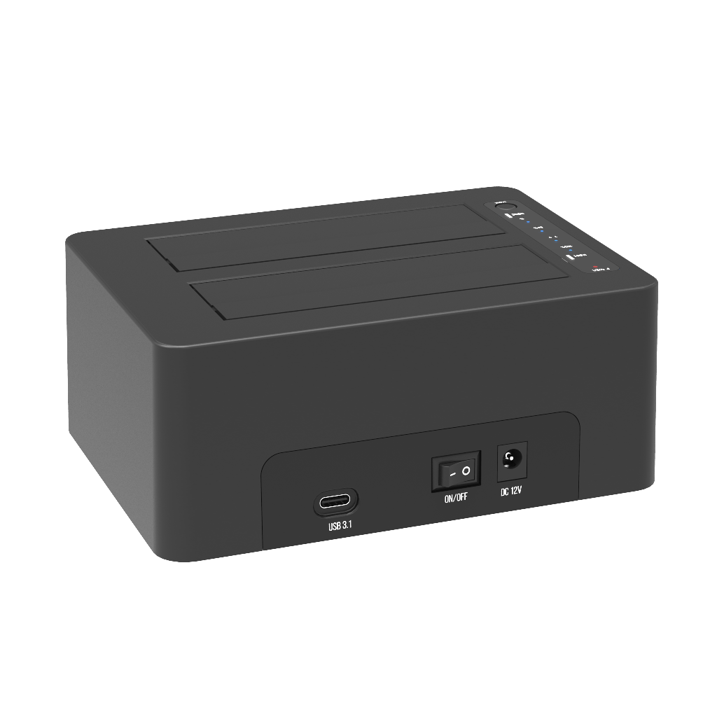 K3082C TypeC USB3.1 GEN2 dual bay docking station