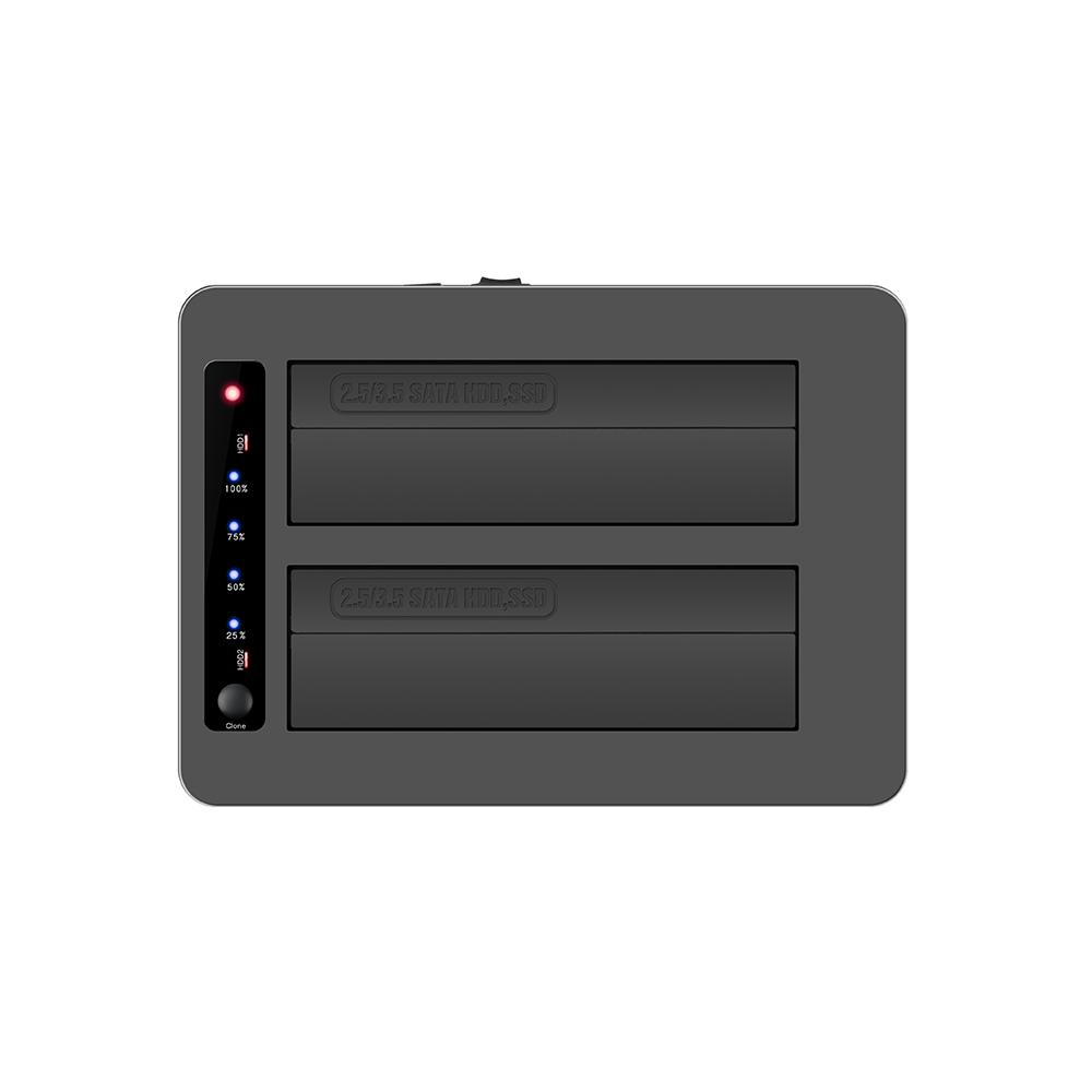 K3082H 2.5''/3.5'' USB3.0 dual bay docking with 3ports USB3.0 HUB