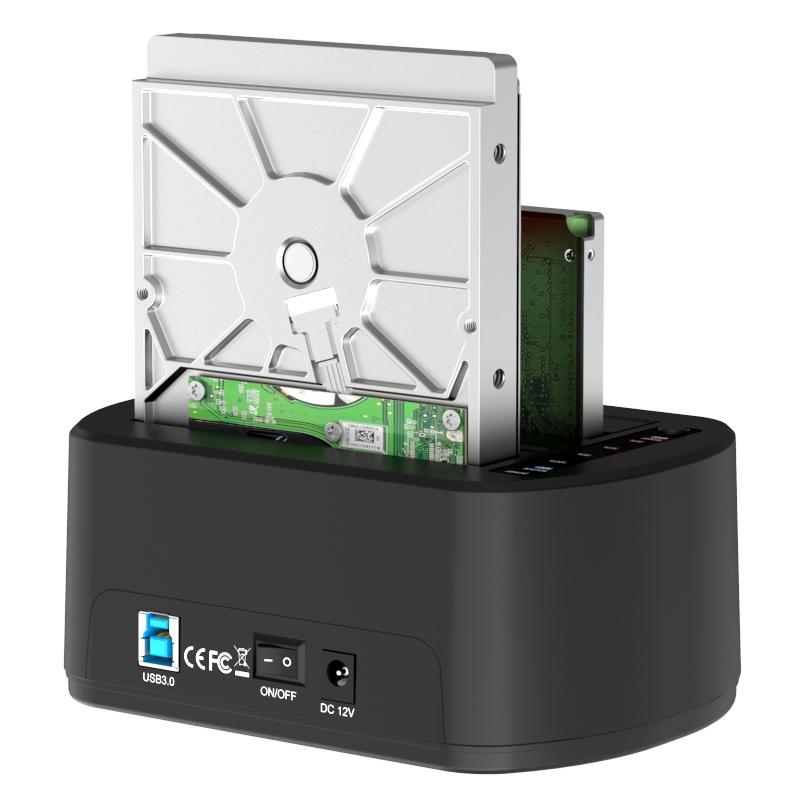 K3062CR 2.5''/3.5'' USB3.0 dual bay Docking Station